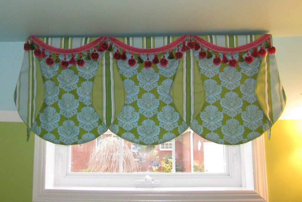 Lime Green Window Valance
