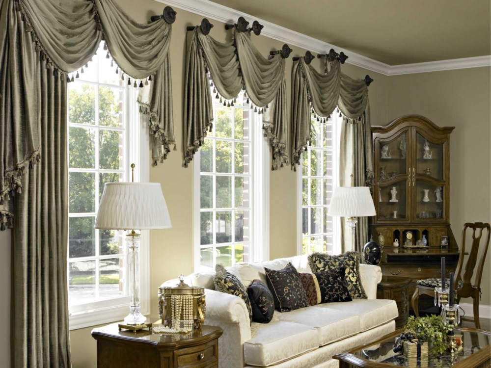 Living Room Drapes And Valances