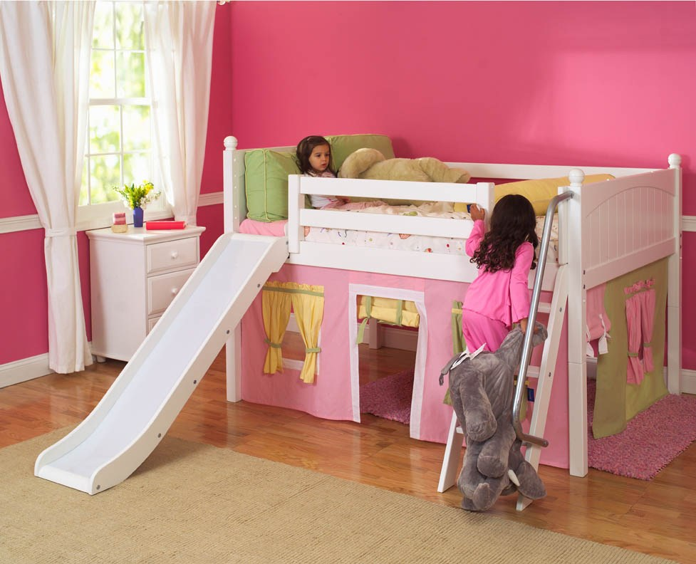 Loft Bed For Kids With Slide
