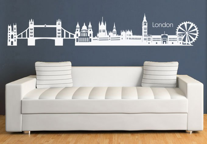 London Skyline Wall Decal