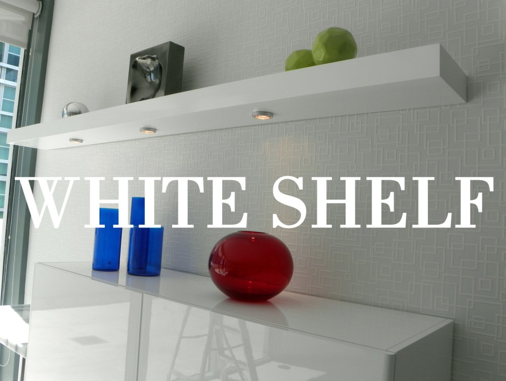 Long White Floating Shelves