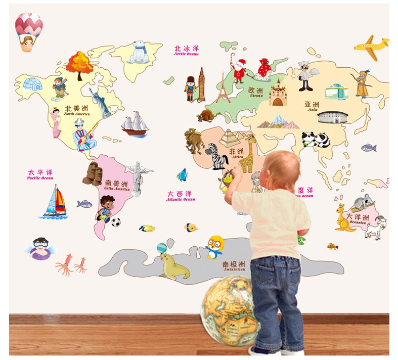Map Of The World Wall Decal