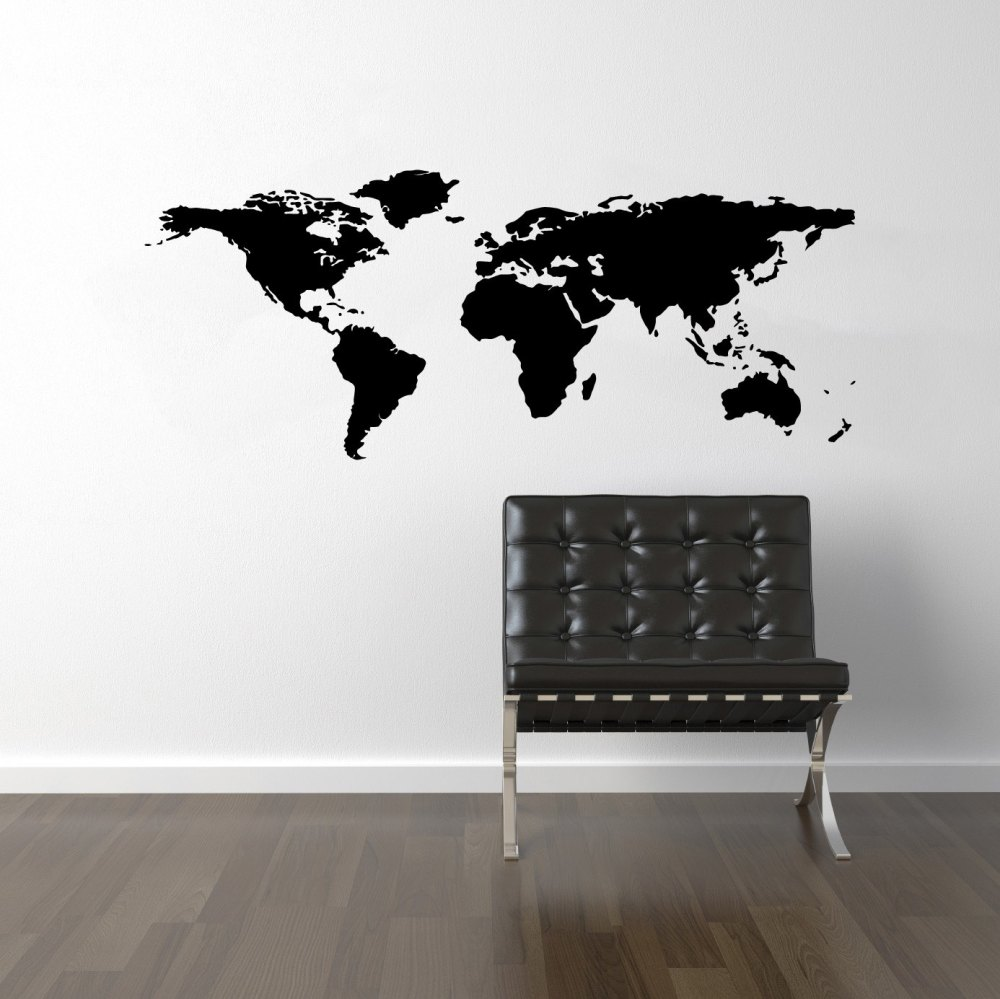 Map Of World Wall Decal