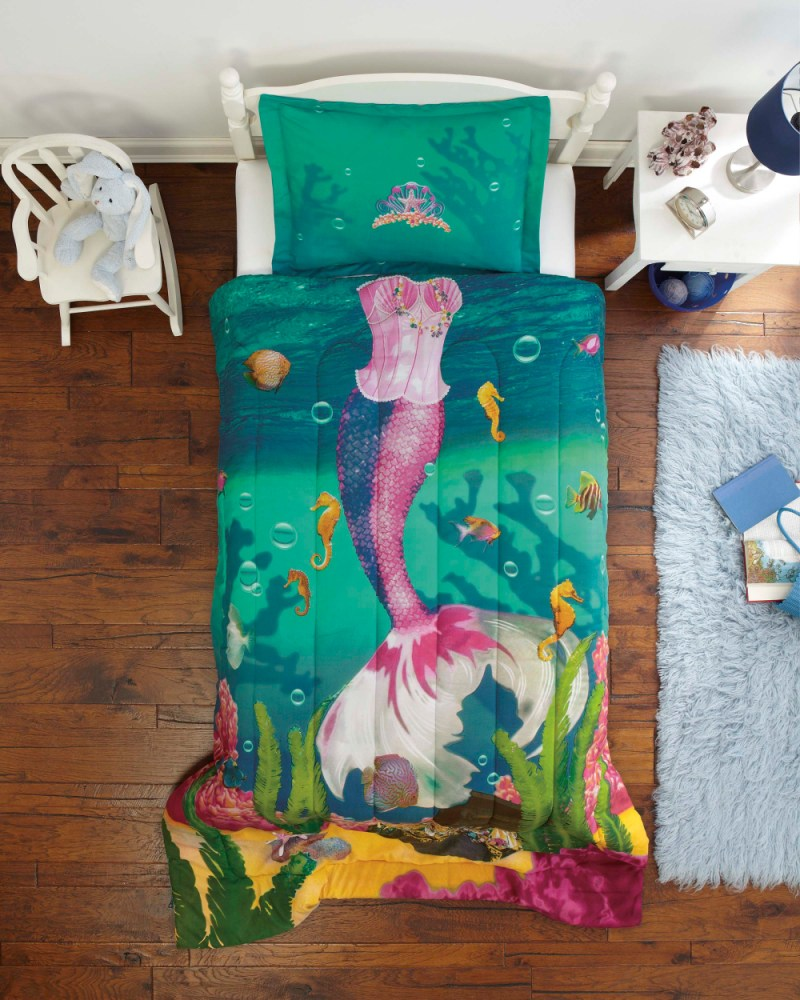 Mermaid Comforter Set Twin