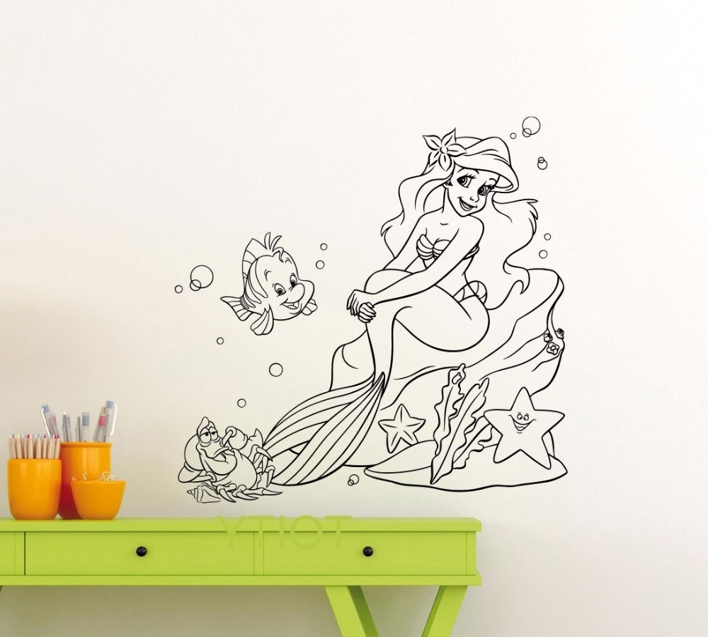 Mermaid Wall Decals Removable