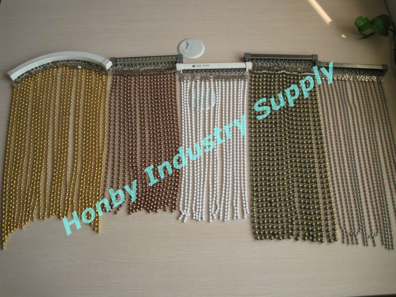 Metal Bead Curtain Room Divider