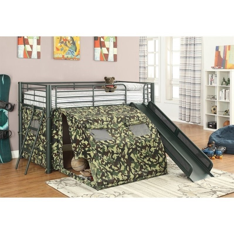 Metal Kids Bed With Slide