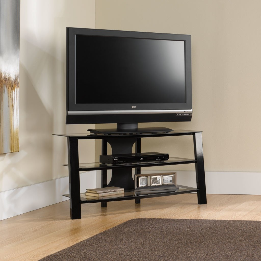 Metal Tv Stand With Glass Shelves