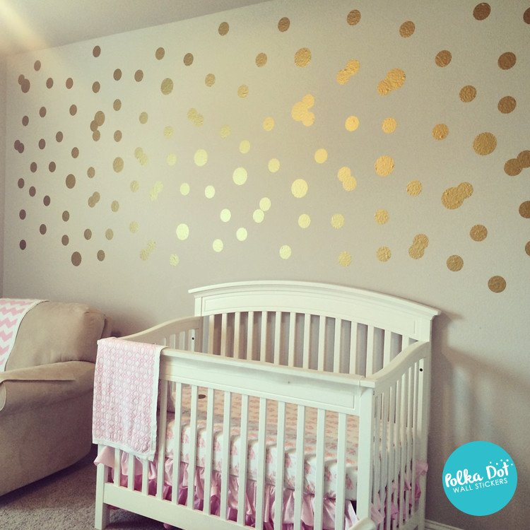 Metallic Gold Wall Decals