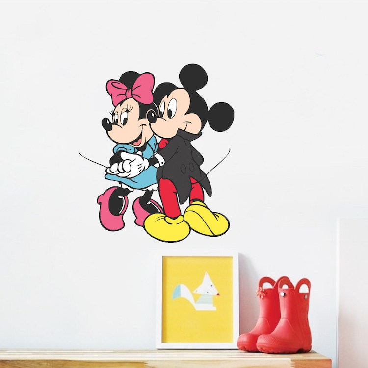 Mickey And Minnie Mouse Wall Decals