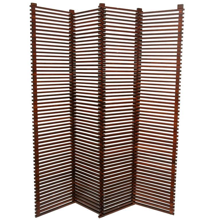 Mid Century Modern Room Divider Screen
