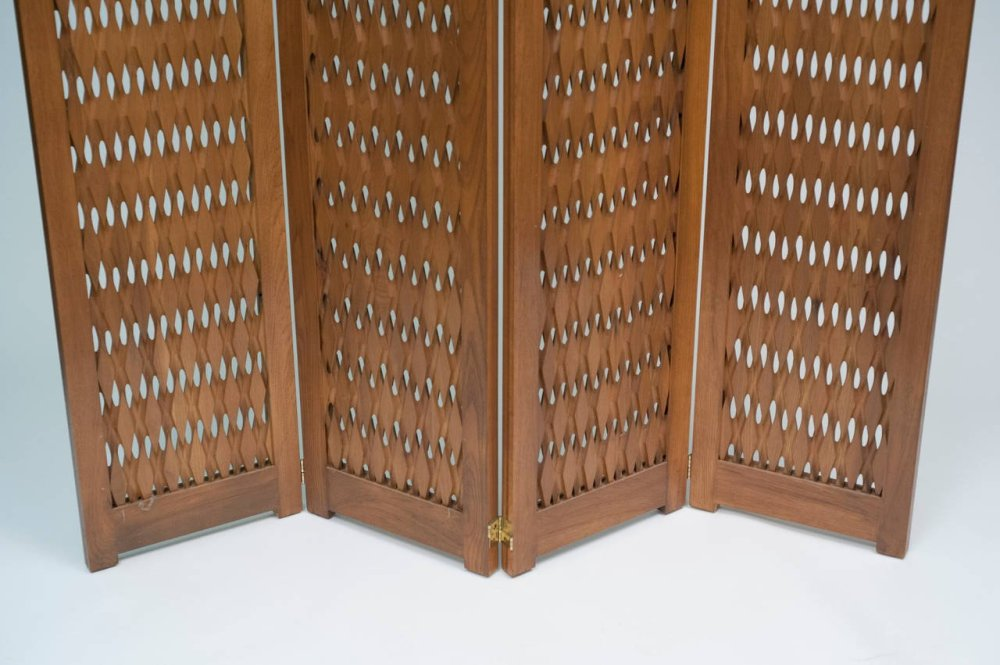 Mid Century Wood Room Divider