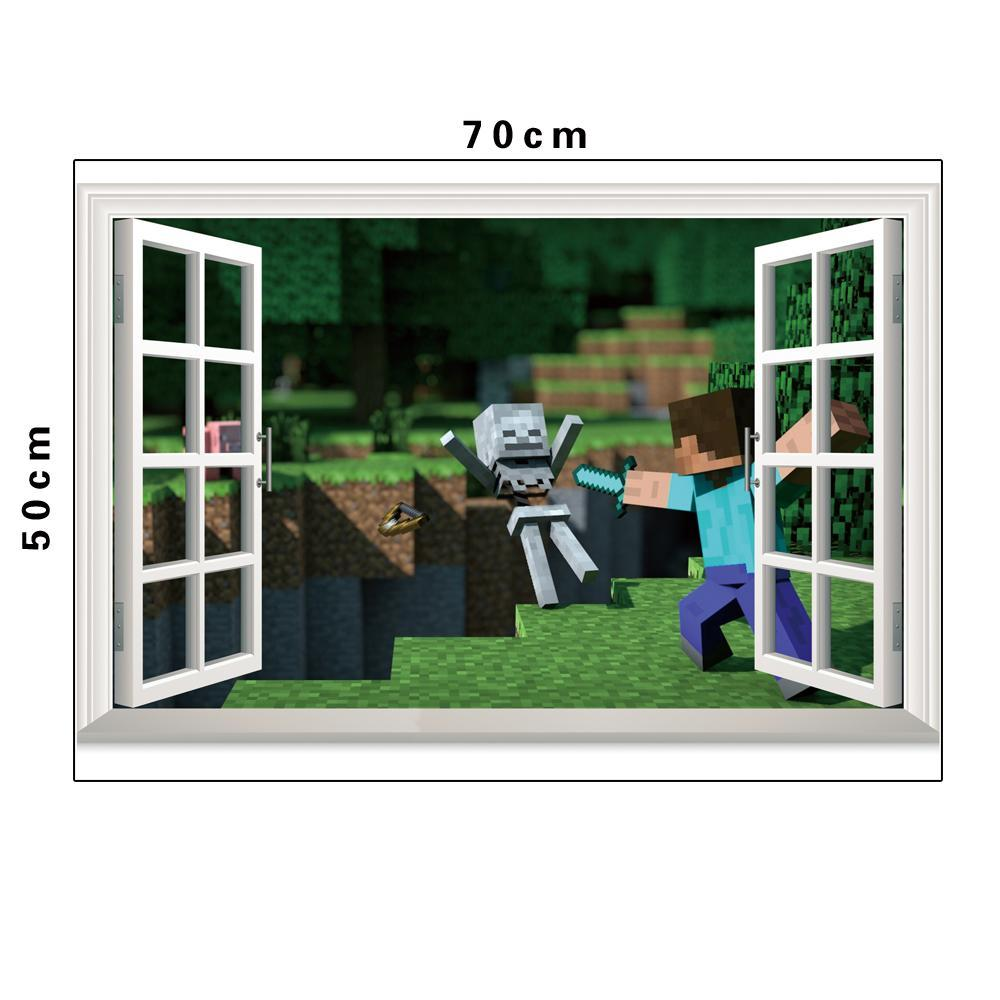 Minecraft 3d Wall Decal