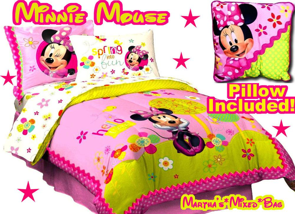 Minnie Mouse Full Size Comforter Set