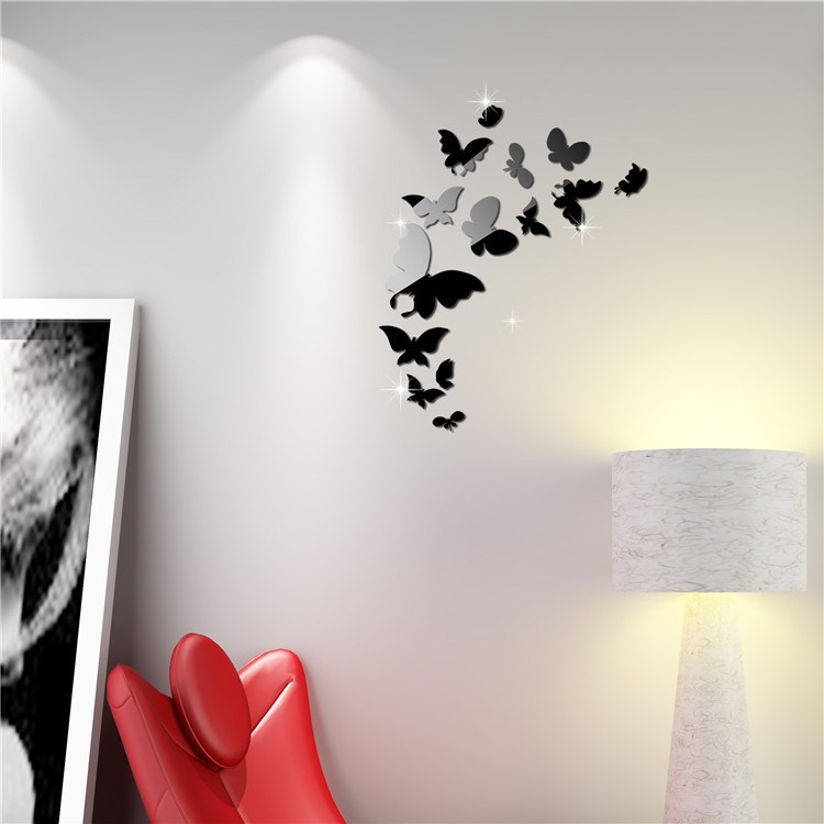 Mirror Butterfly Wall Decals