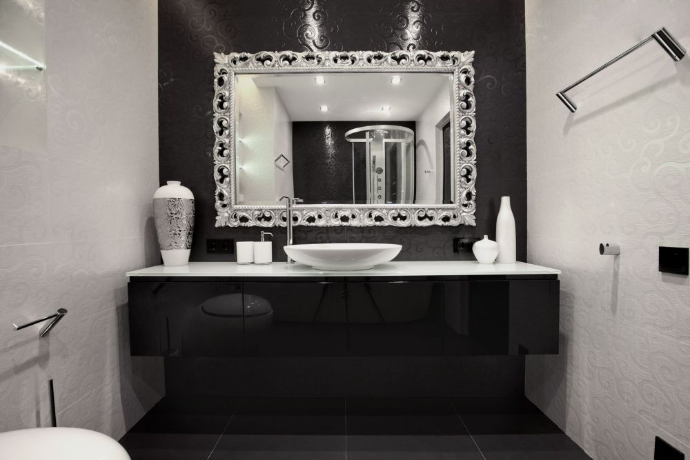 Mirror Framed Mirror Bathroom
