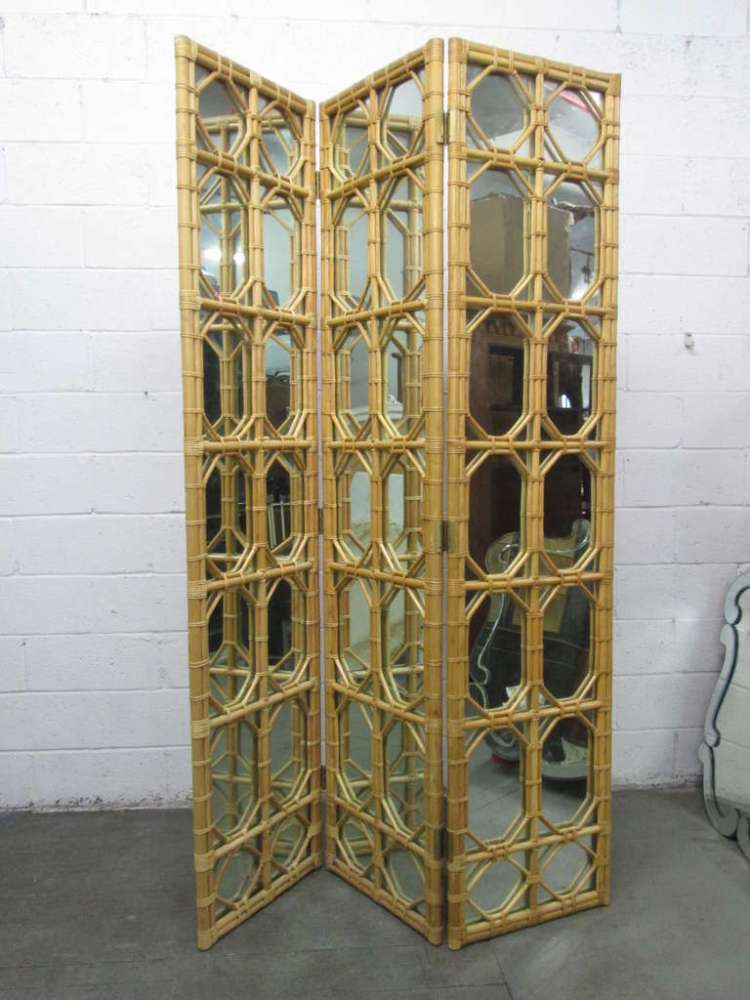 Mirror Room Divider Screen