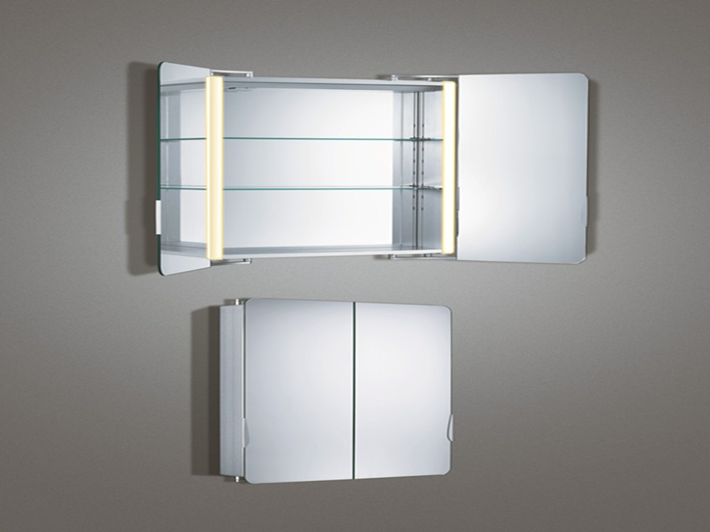 Mirrored Bathroom Cabinet With Shelves