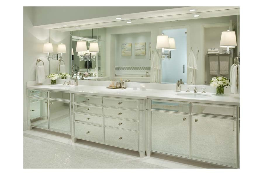 Mirrored Bathroom Vanity Cabinet