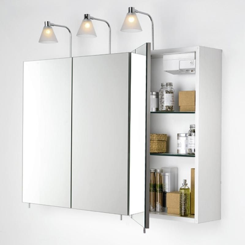 Mirrored Bathroom Wall Cabinets