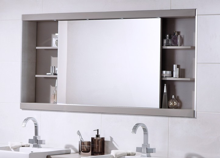 Mirrored Tallboy Bathroom Cabinets