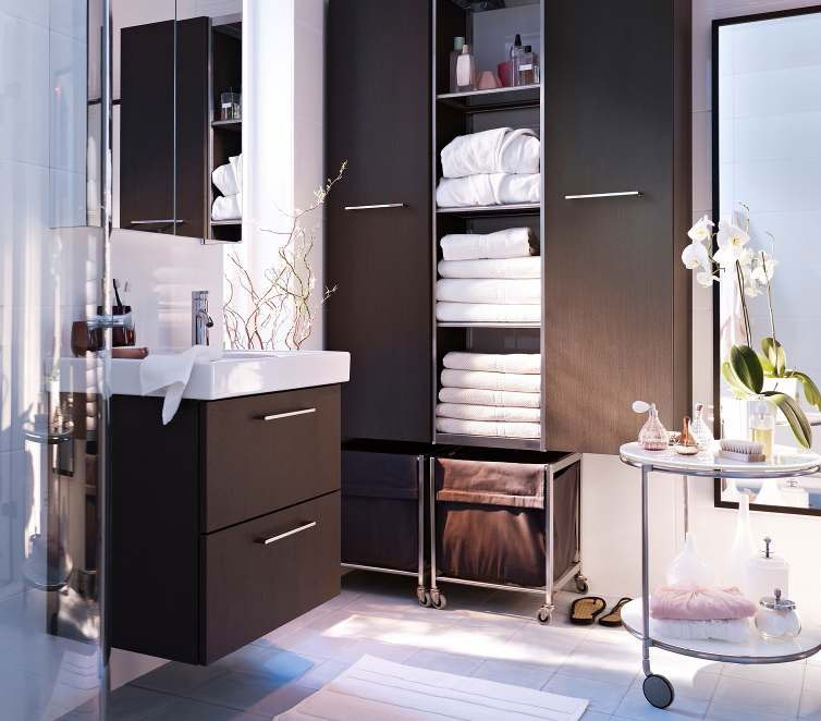Modern Bathroom Cabinets Storage