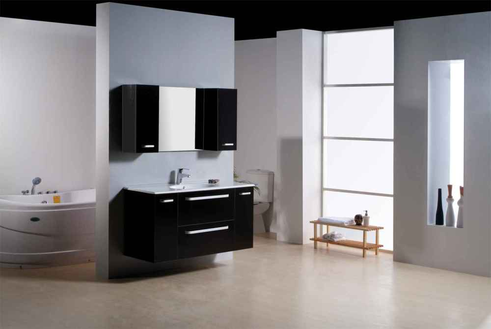 Modern Bathroom White Cabinets