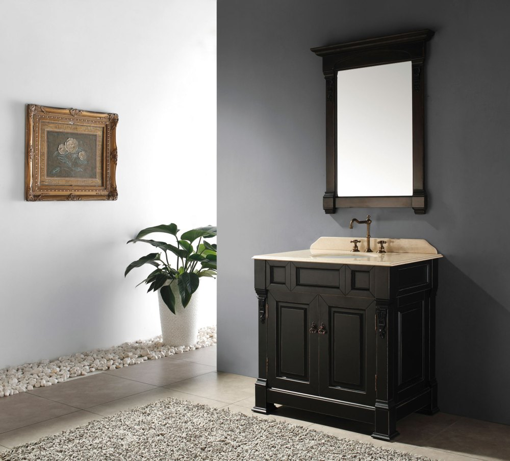 Modern Black Bathroom Cabinets