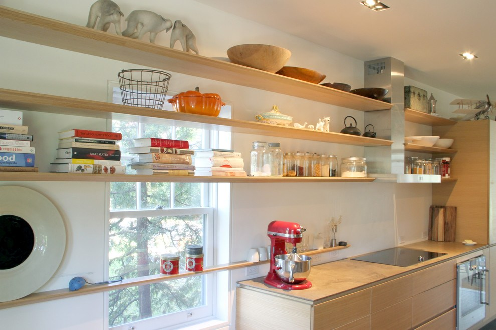 Modern Floating Shelves Kitchen