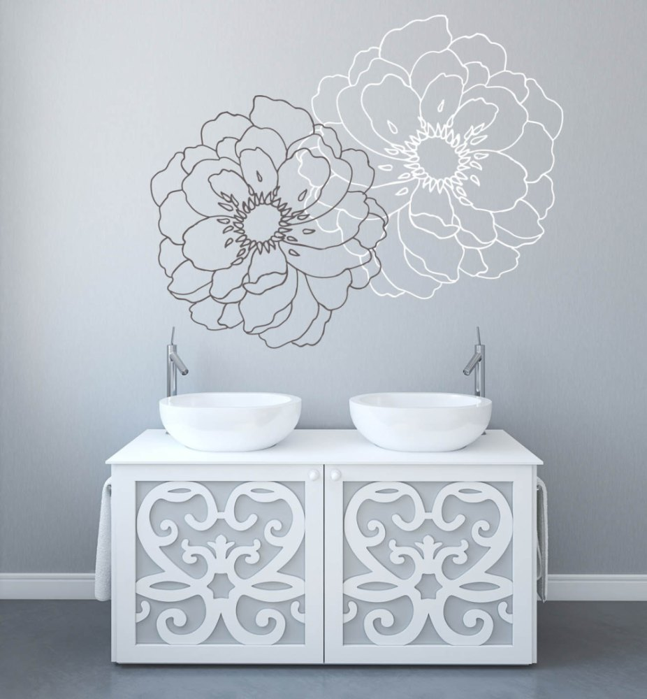 Modern Flower Wall Decals