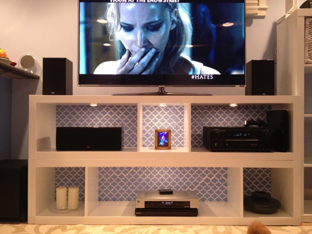 Modern White Tv Stand With Mount