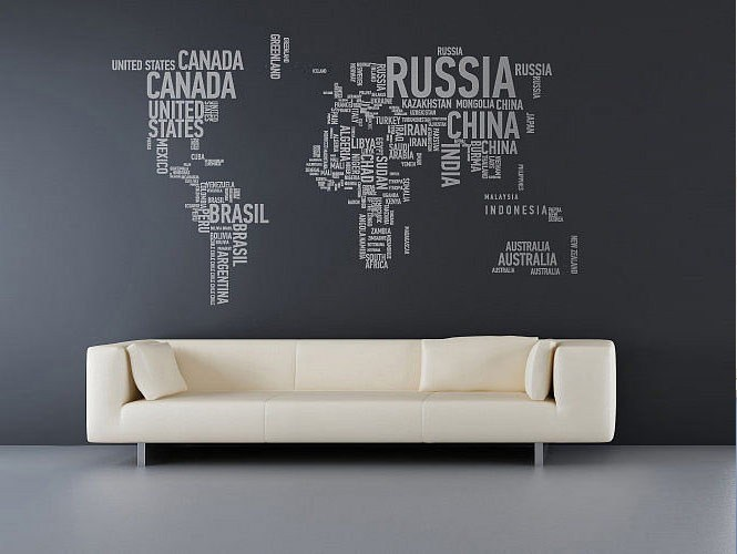 Modern White Wall Decals