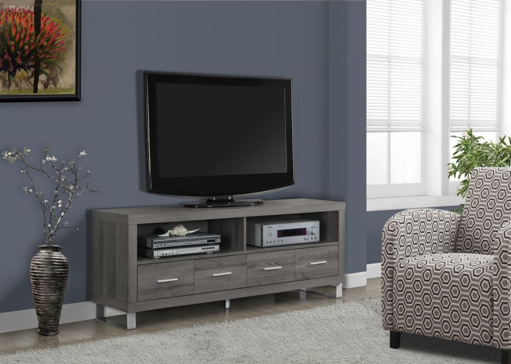 Monarch Specialties Tv Stand Dark Taupe