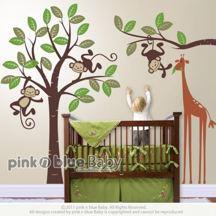 Monkey Wall Decals For Boy Nursery