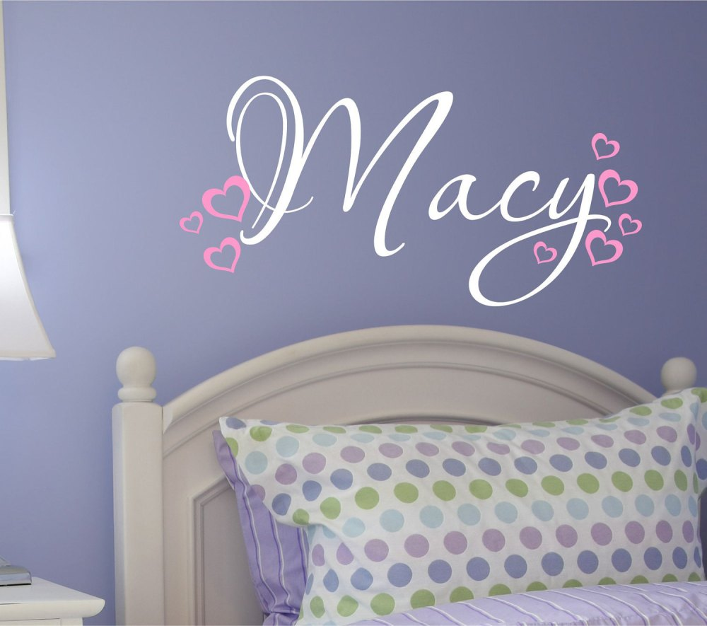 Monogram Name Wall Decals