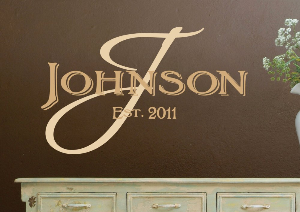 Monogram Vinyl Wall Decals