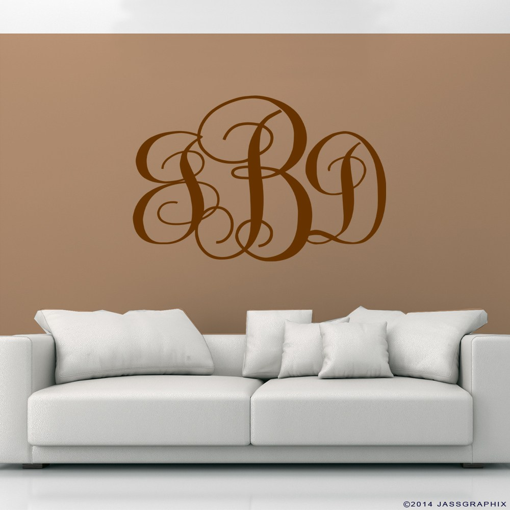 Monogram Wall Decals Letters