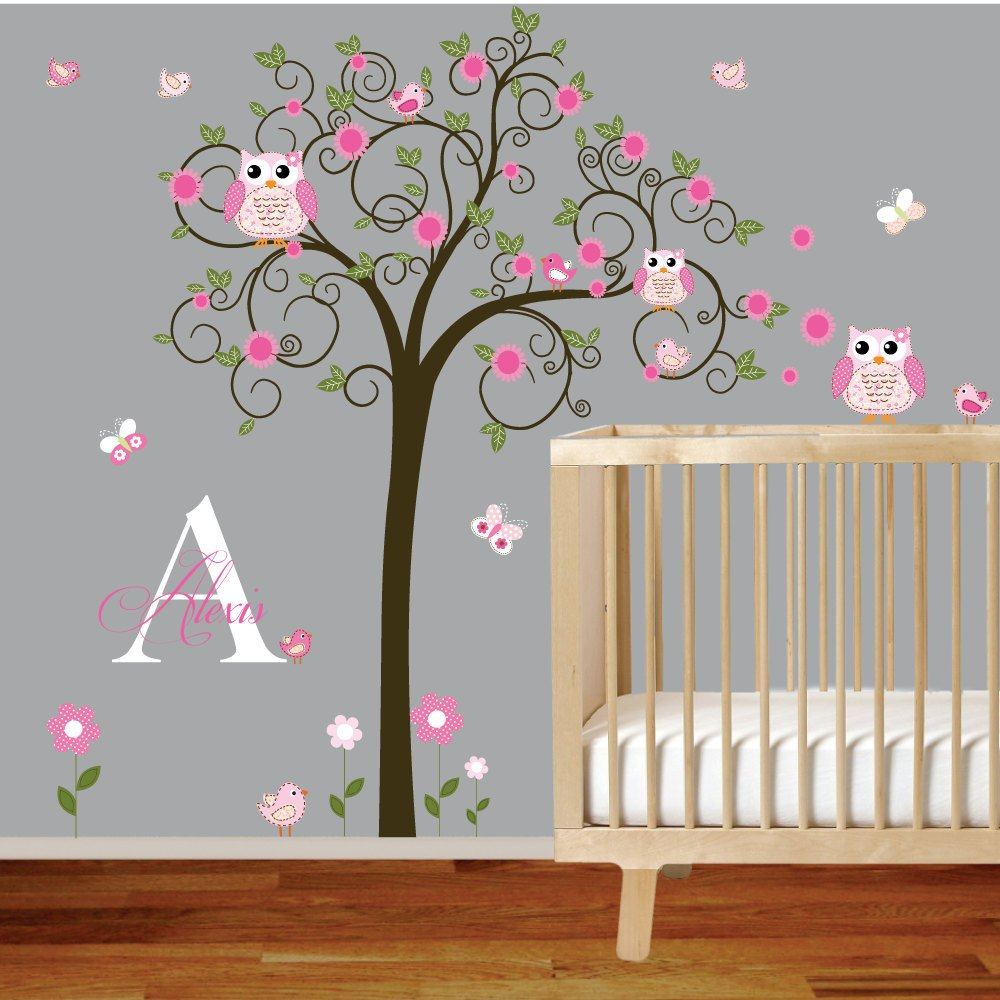 Name Wall Decals For Girl Nursery