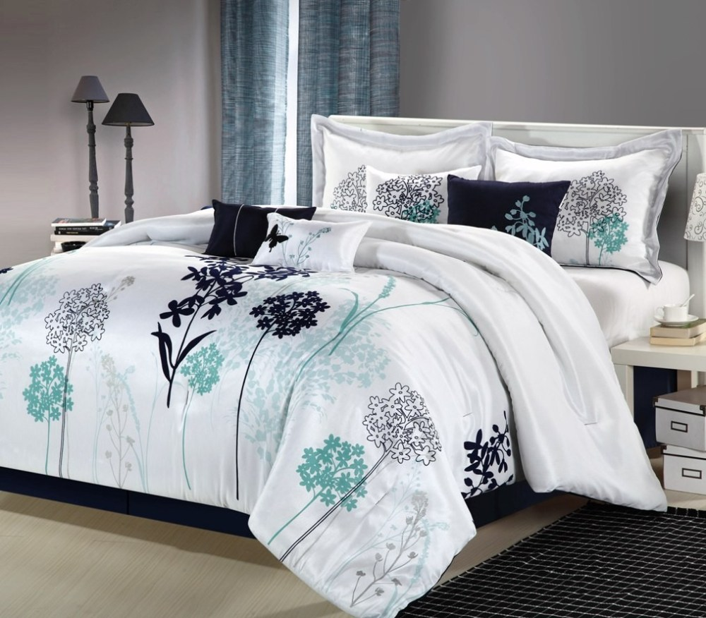 Navy And White Comforter Sets King