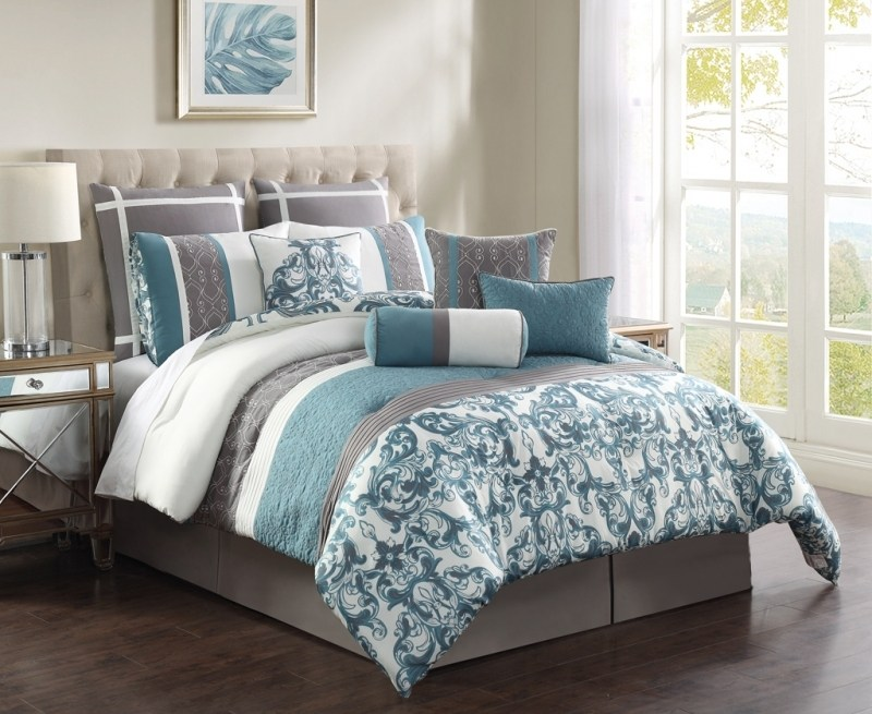 Navy And White Comforter Sets Queen