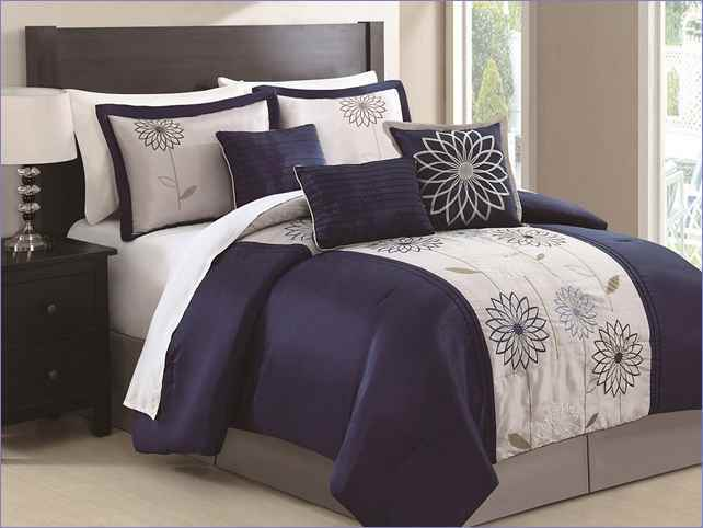 Navy Blue And White Comforter Sets
