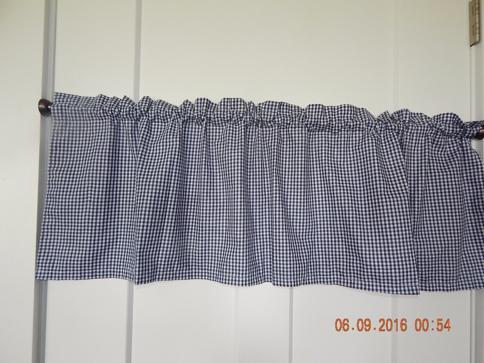 Navy Blue And White Valance