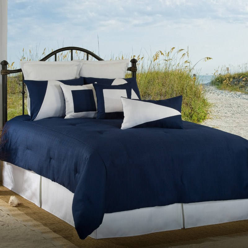 Navy Blue Comforter Set Full