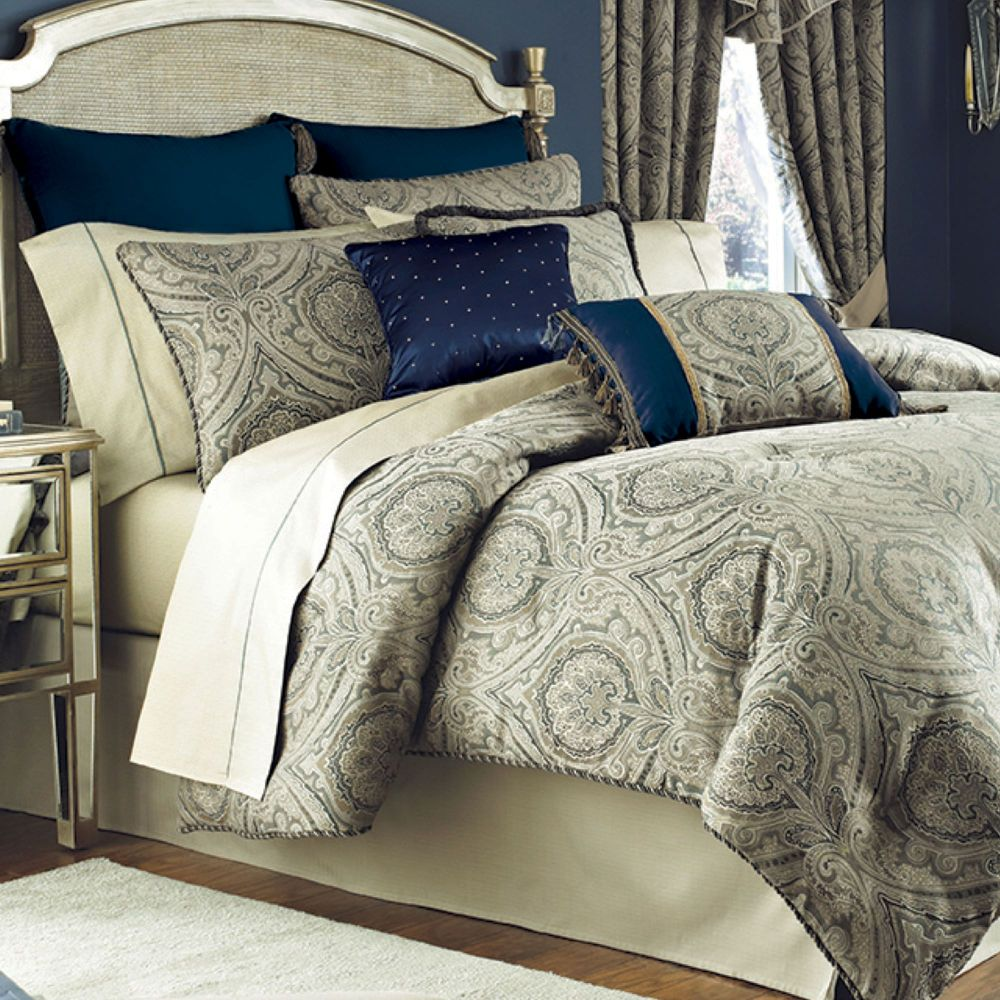 Navy Blue Comforter Set Queen
