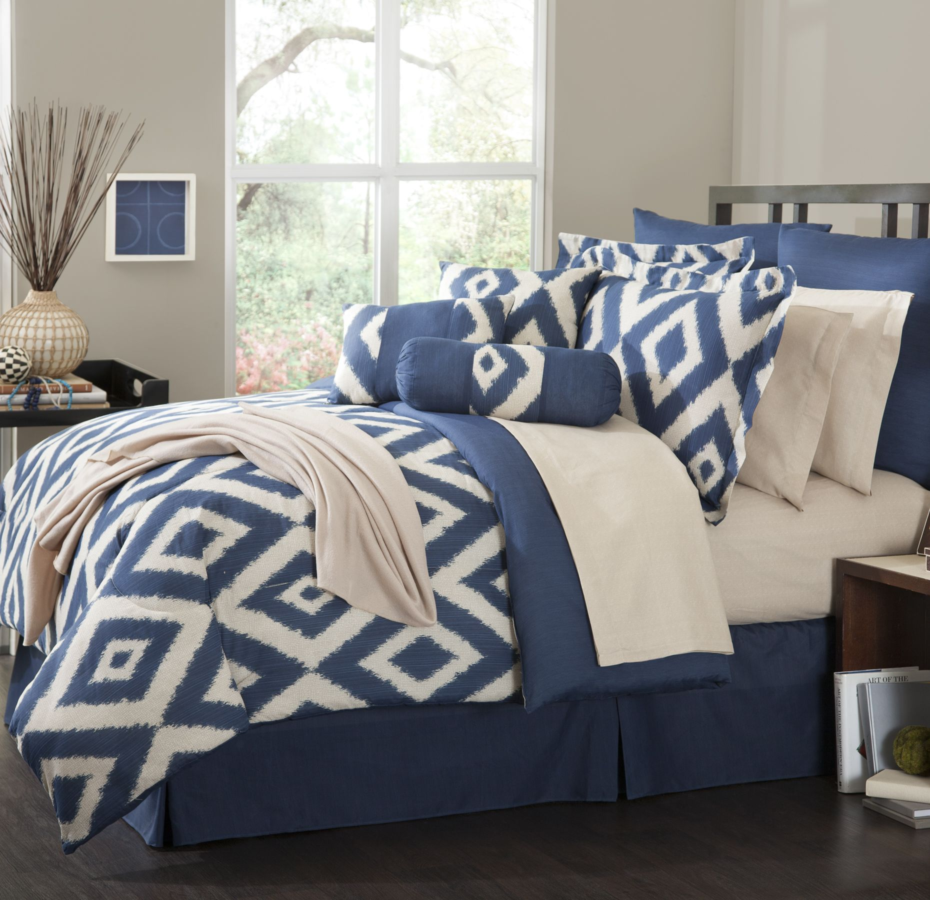 Navy Blue Comforter Set
