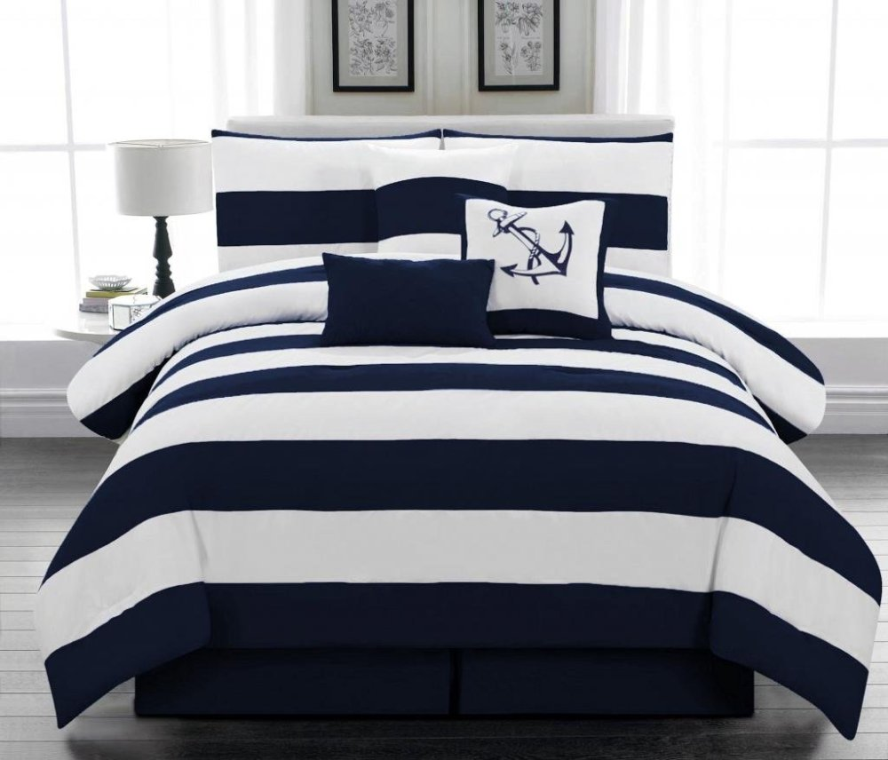 Navy Blue Comforter Sets Full Size