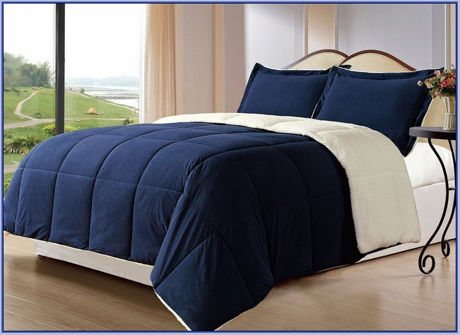 Navy Blue Comforter Sets Queen