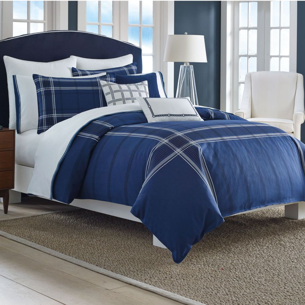 Navy Blue Queen Comforter Set