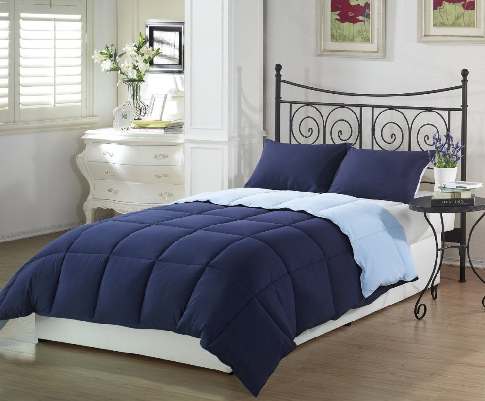 Navy Blue Twin Comforter Set