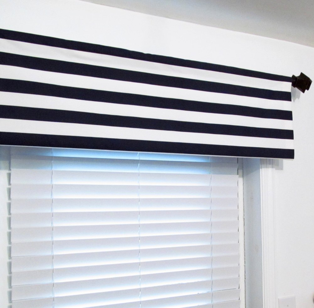 Navy Blue Valance Curtains